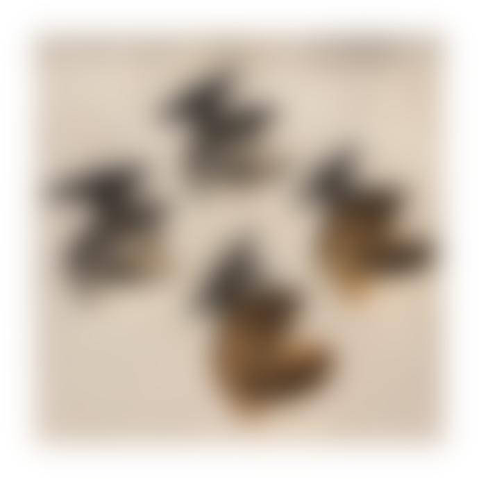 Ruddock 18 Carat Gold Plated Bronze Large Fan Earrings