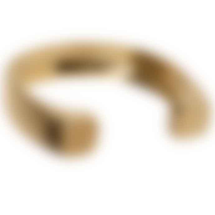 Ruddock 18 carat gold plated bronze Big Arlo Cuff