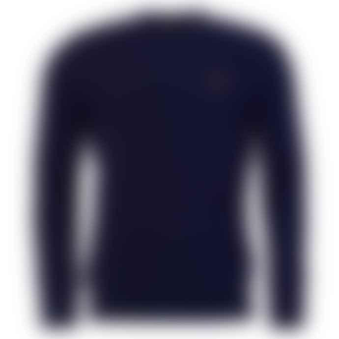 Barbour Beacon Logo Crew Neck Jumper Royal Blue