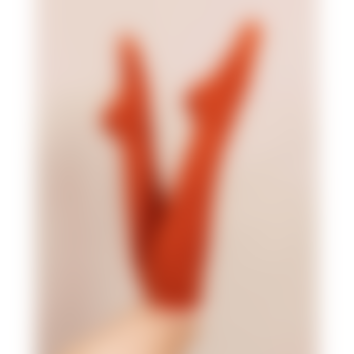 Powder Design Tangerine Acrylic Lace Top Knee High Socks