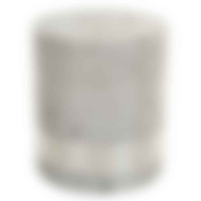 PTMD 18 x 16cm Silver Metallic 3 Wick Candle