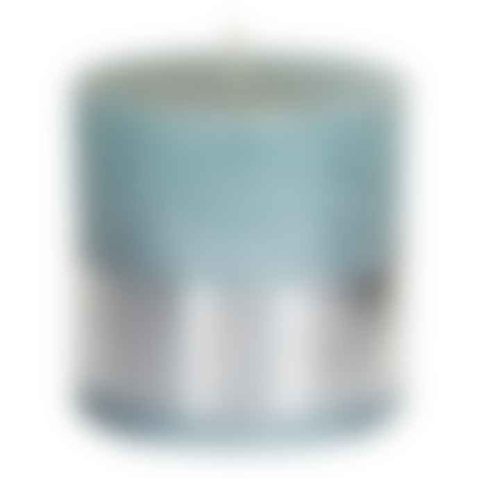 PTMD 10 x 10cm Mint Green Metallic Block Candle