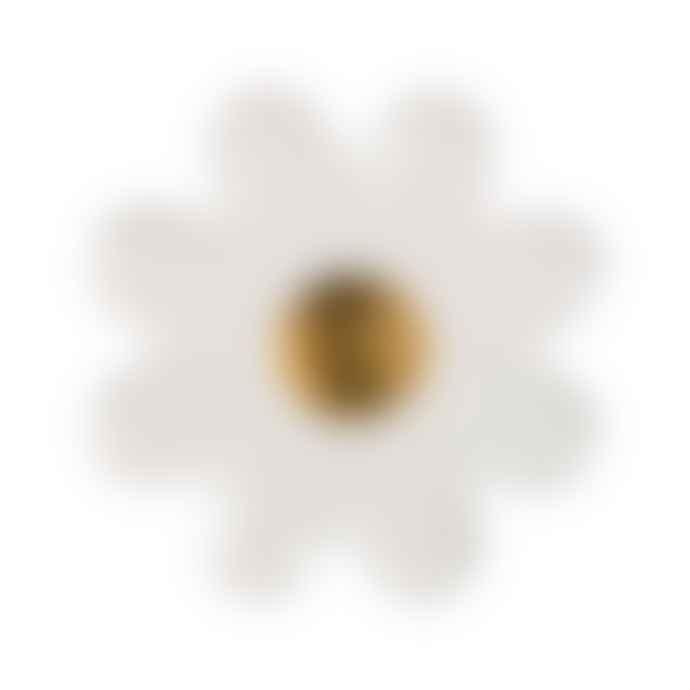 Meri Meri Pack of 8 Large White Daisy Plates