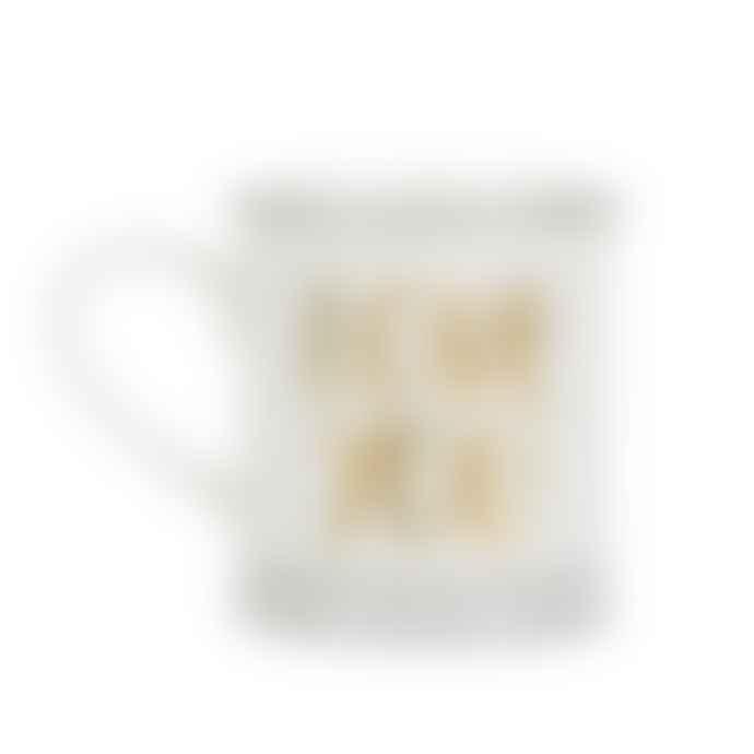 Sass & Belle  White and Gold Porcelain Love You Mug