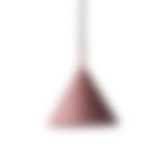 HK Living Matt Purple Metal Triangle Pendant Lamp
