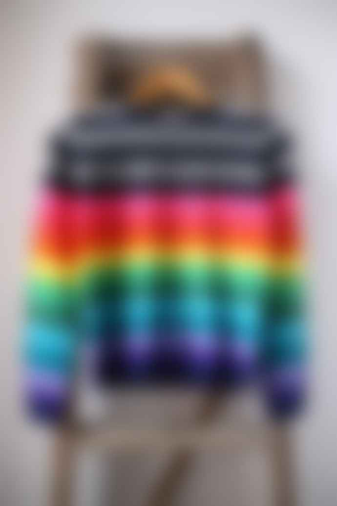 Jumper 1234 Multi Coloured Stripe Cashmere Jumper