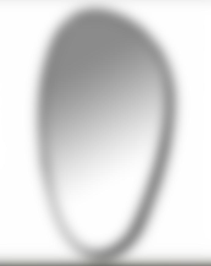 Serax Black metal surround mirror 49x23 cm