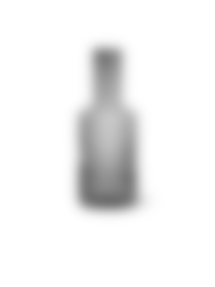 Ferm Living 1L Smoked Grey Mouth Blown Ripple Carafe