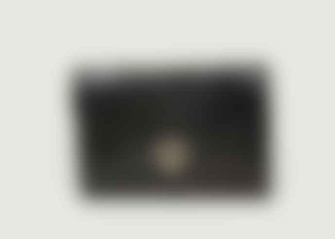 Petite Mendigote Croco Black Leather Lulu Banana Bag