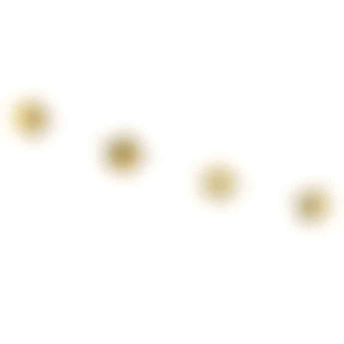 Party Deco Gold Star Garland Decoration