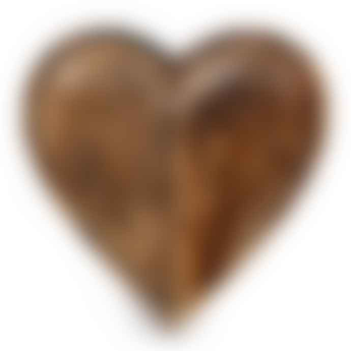 Juul at Home Mango Heart Wood Bowl