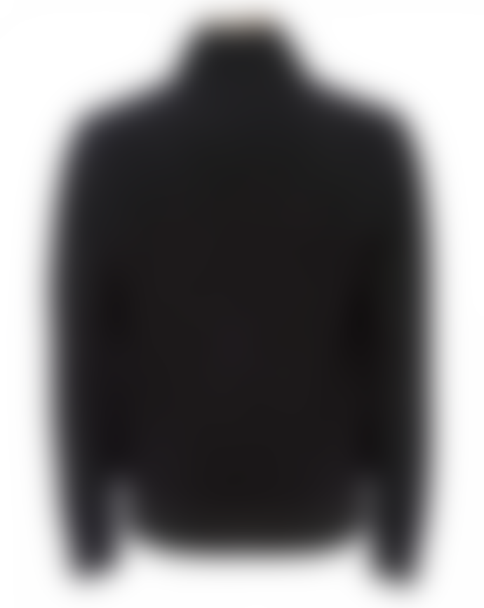John Varvatos Mens Zip-Through Wool Cardigan, Black Jacket