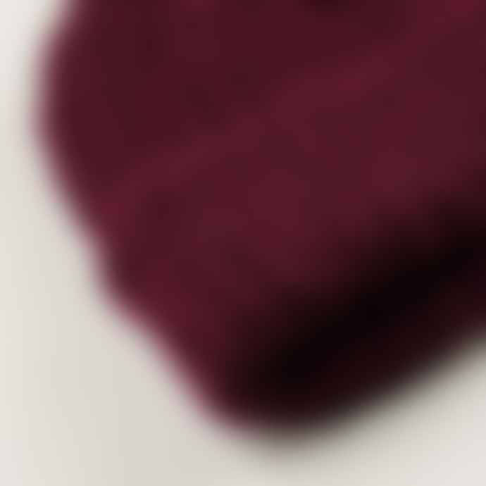 cableami British Wool Short Beanie Burgundy