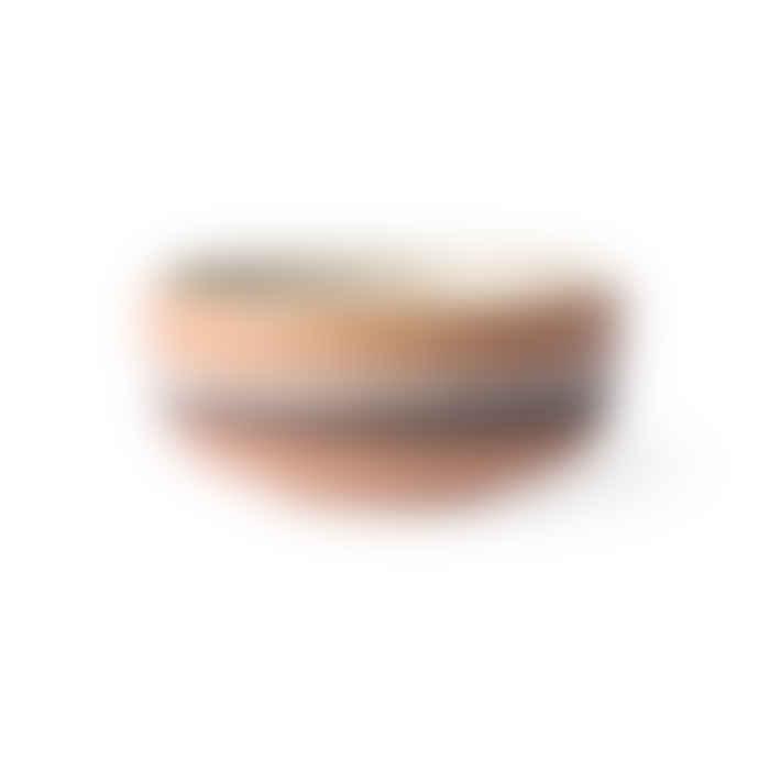 HKliving Ceramic 70´s Bowl Medium Tornado