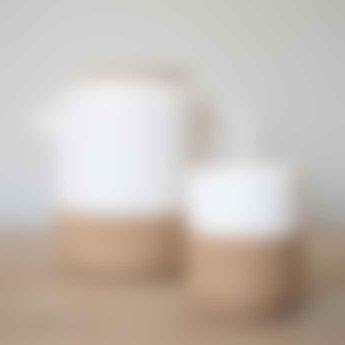LIGA 9.5 x 8cm Cream Earthware Tea and Coffee Mug