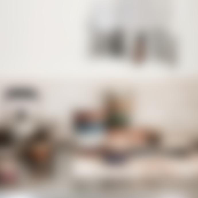 HKliving Set of 4 300ml  Multicolour Ceramic 70s Cappuccino Mugs