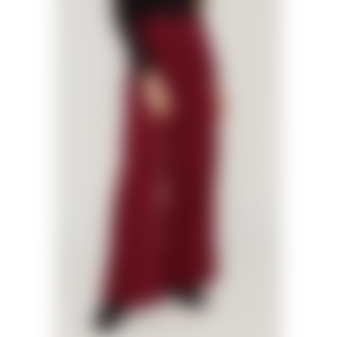 People Tree Wide Red Cotton Corduroy Noelle Trouser