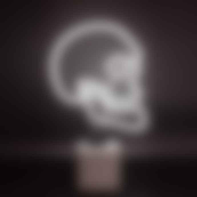 Locomocean White Neon Skull Light