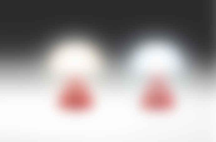 Lexon 7 x 8cm Red Mina Mini LED Lamp