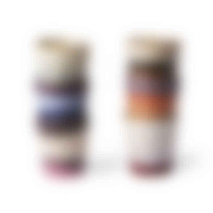 HK Living Set of 6 180ml Multicolour Ceramic Mugs