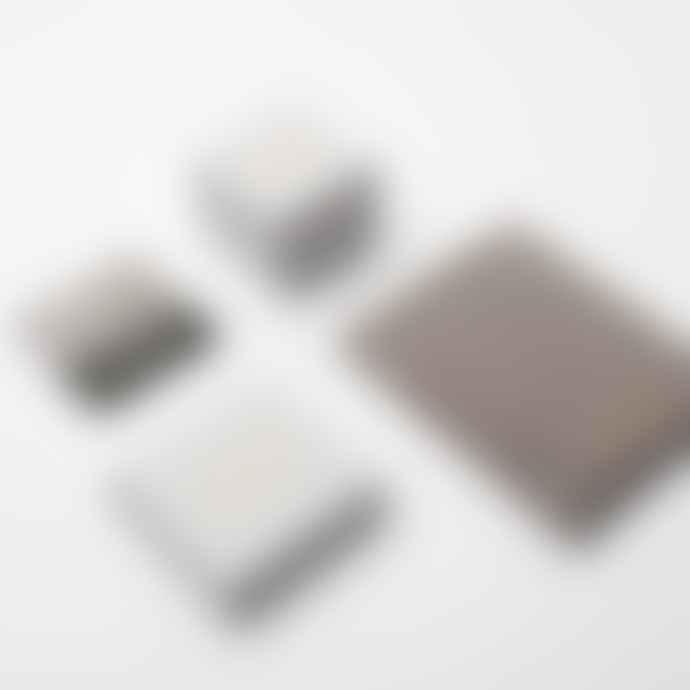 Decadorn  Mini Semi Circle Stone Hoop Silver Earrings Rose Quartz