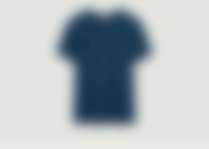 American Vintage Navy Cotton Round Neck Bysapick T-Shirt