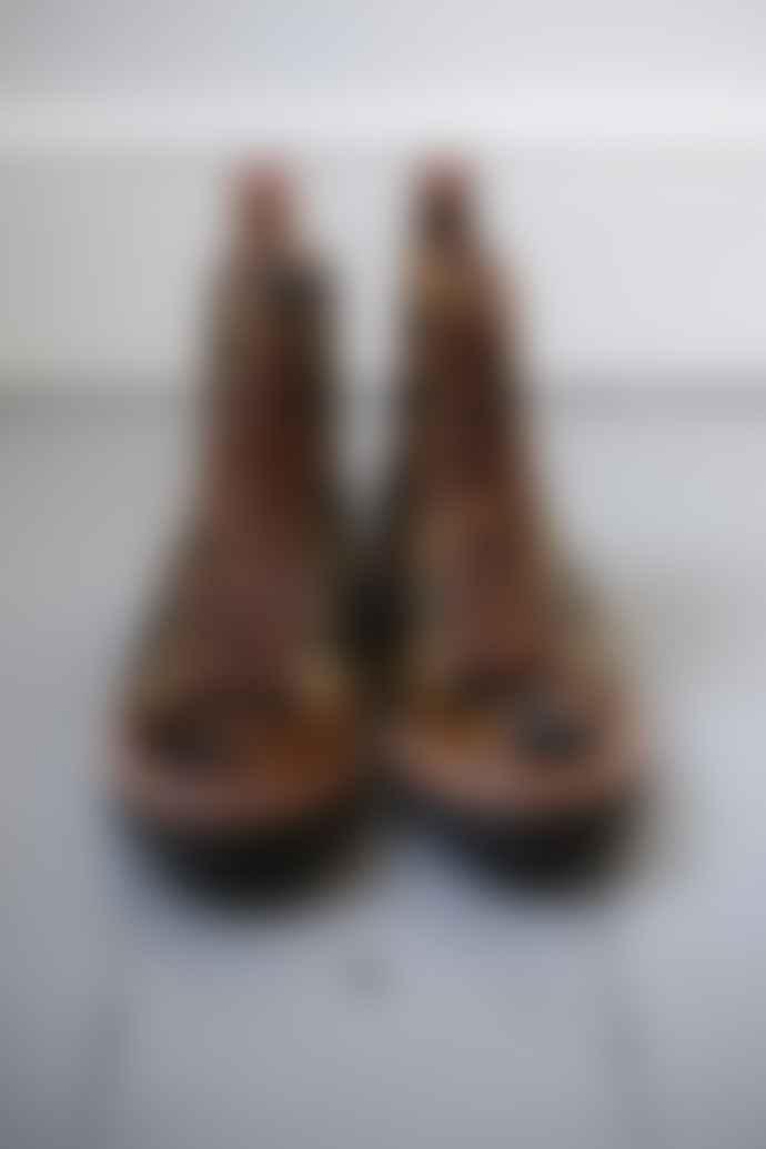 Grenson Nanette Leopard Print Hair On Side Leather Hiker Boot