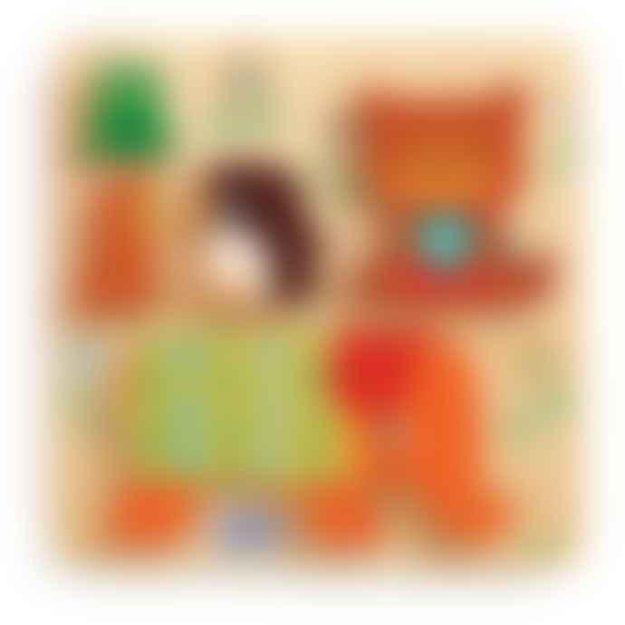 Djeco  Woodypile Animal Relief Puzzle Age 12m+