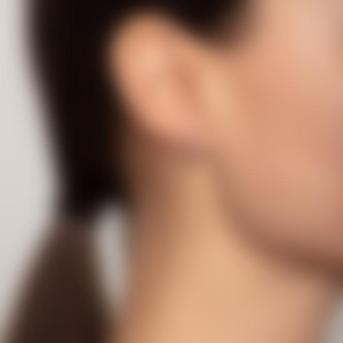 Pilgrim 1.4cm Rose Gold Plated Delia Crystal Hoop Earrings