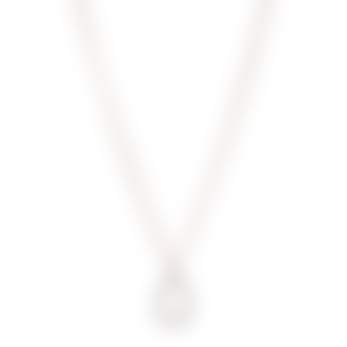Pilgrim 40cm Rose Gold Plated Delia Teardrop Necklace