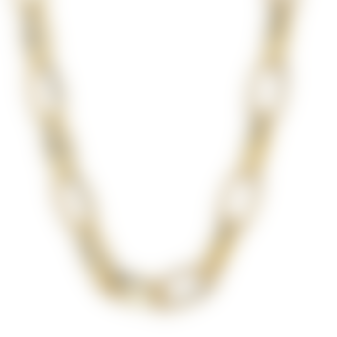 Pilgrim Gold Plated Ran Chain Link Necklace