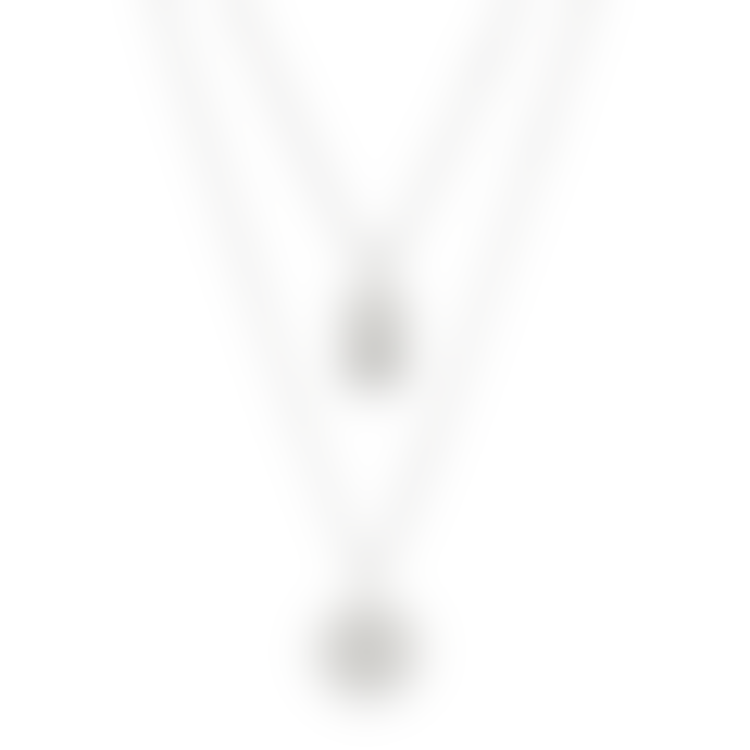 Pilgrim 45cm Silver Plated Valkyria Twin Necklace