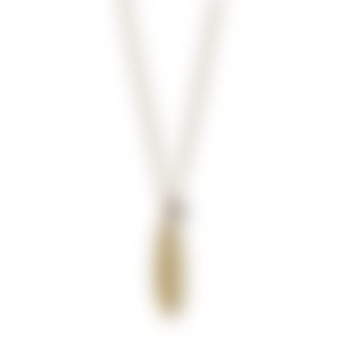 Pilgrim 40cm Gold Plated Brass and Zinc Lauren Boho Feather Necklace