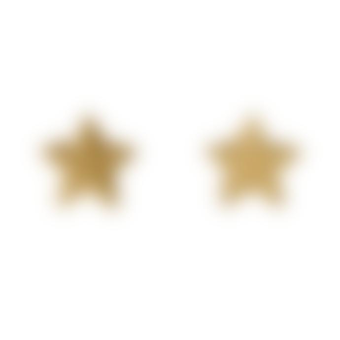 Pilgrim 0.5cm Gold Plated Steel and Zinc Ava Star Stud Earrings