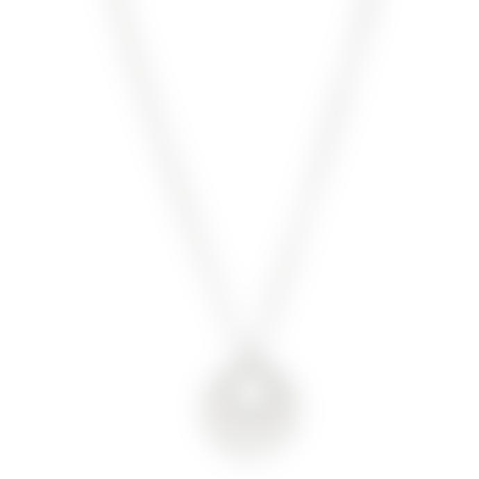 Pilgrim 40cm Silver Plated Cassie Art Deco Necklace