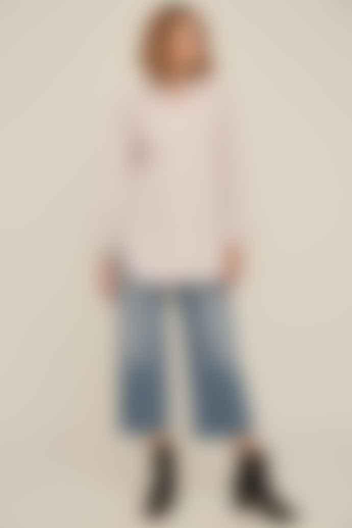 ese O ese Pink Stripe Boyfriend Shirt