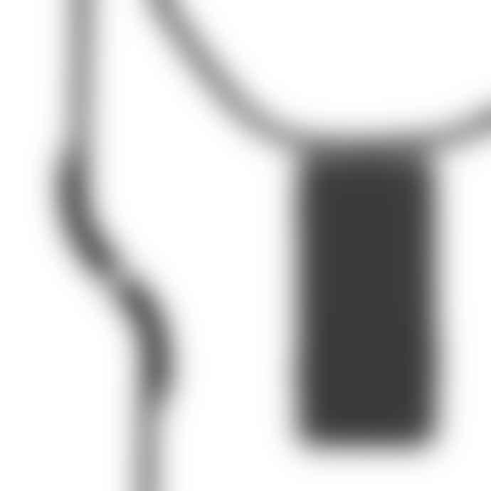 KNOK CASE Black Silver Metal  Cross body Phone Case Strap