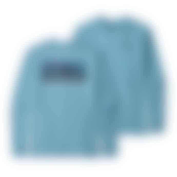 Patagonia Camiseta P 6 Logo Responsibili L S Break Up Blue