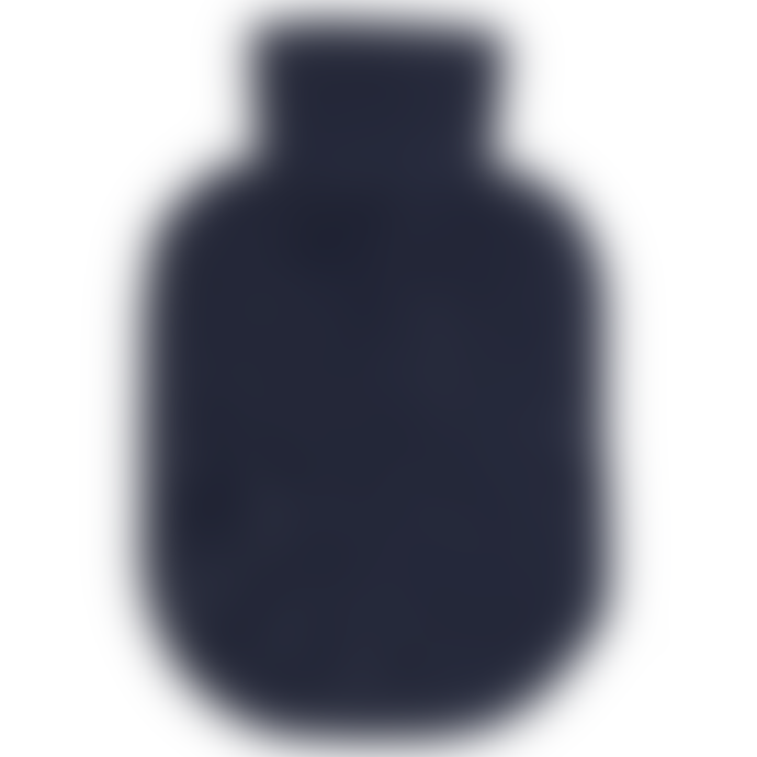 engage Navy Cashmere Hot Water Bottle