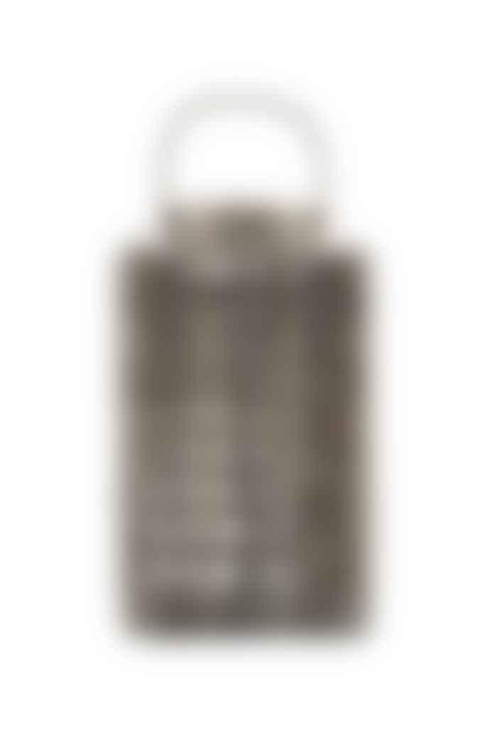 House Doctor Medium Grey Wood Glass Terne Lantern