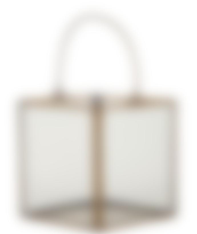 AU Maison Hurricane Lantern With Handle Brass Medium