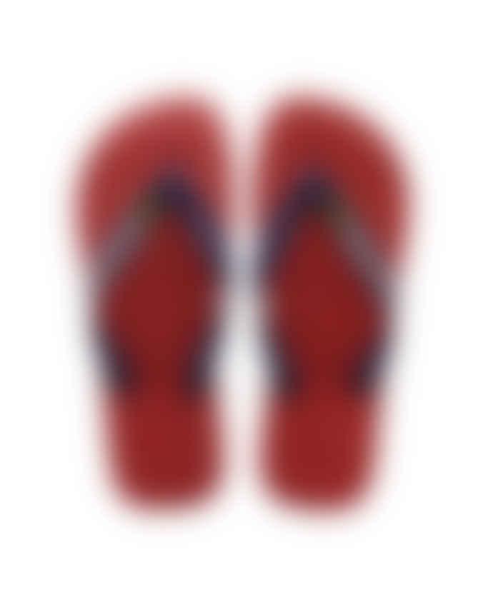Havaianas Red Brasil Logo Flip-Flops