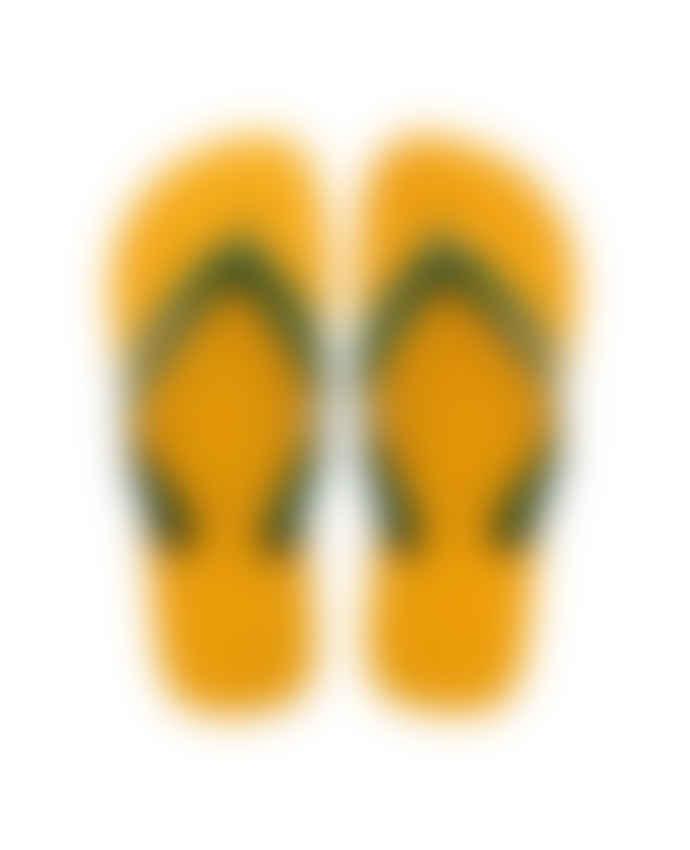 Havaianas Banana Yellow Brasil Logo Flip-Flops