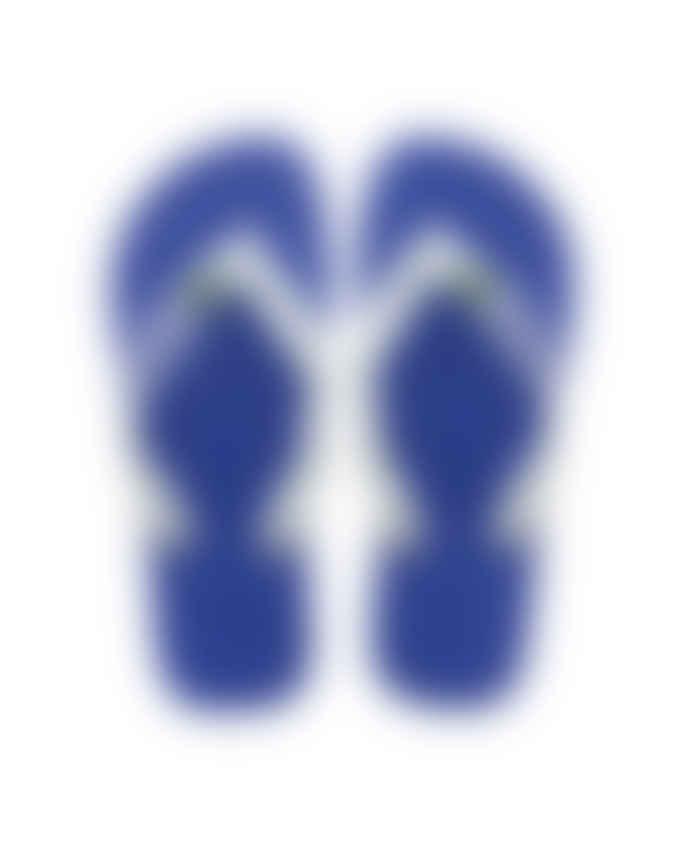 Havaianas Marine Blue Brasil Logo Flip-Flops