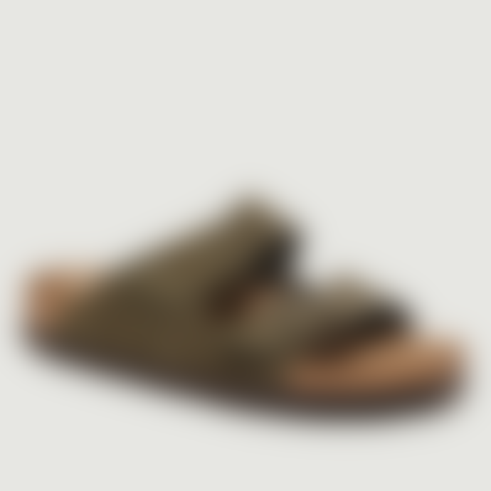 Birkenstock Forest Green Leather Arizona Suede Sandal