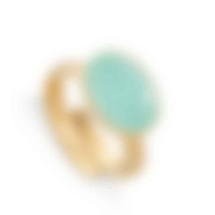 SVP Jewellery Atomic Maxi Light Green Chalcedony Gold Vermeil