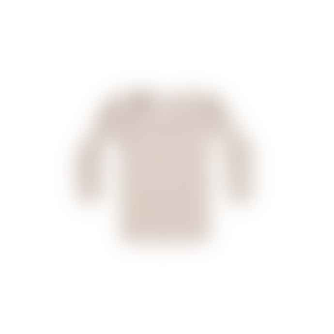 Quincy Mae Small Stone and Terracotta Organic Cotton Long Sleeve Tshirt