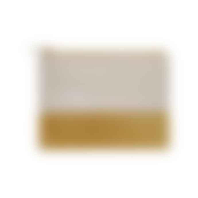Maradji Small Mustard Yellow Velvet Leather Alphonse Clutch Pouch