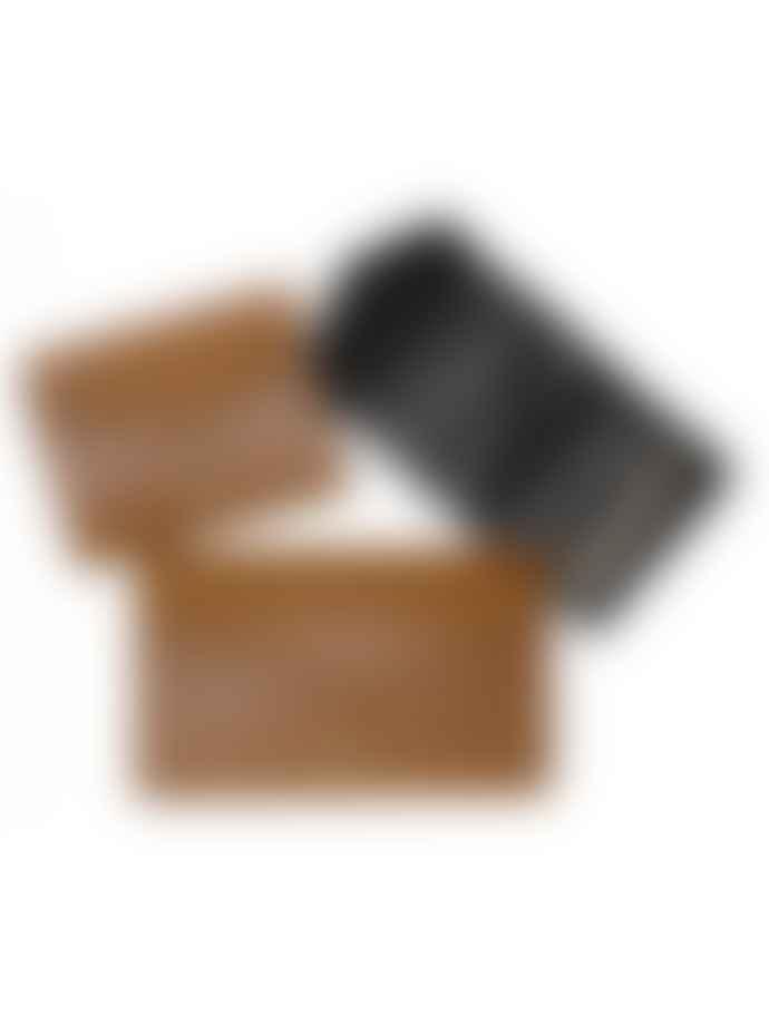 Craie Camel Leather Folding Wallet