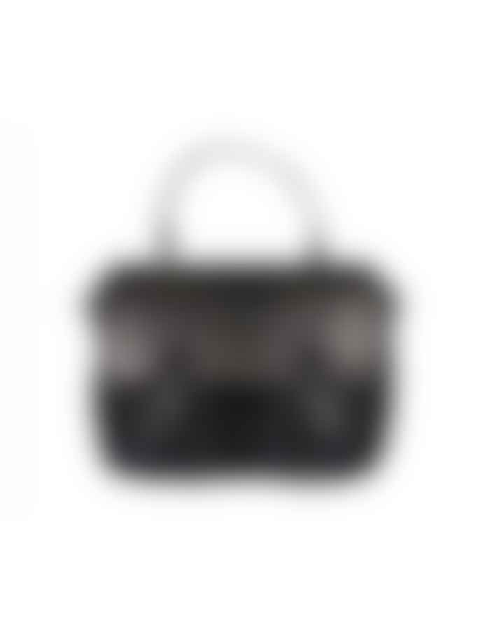 Craie Mini Light Black Python Leather Maths Bag